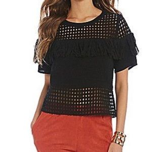 Gianni Bini Black Fridge Misha Blouse